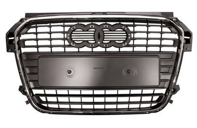 Audi A1 grille with chrome surround from the year 2010 onwards